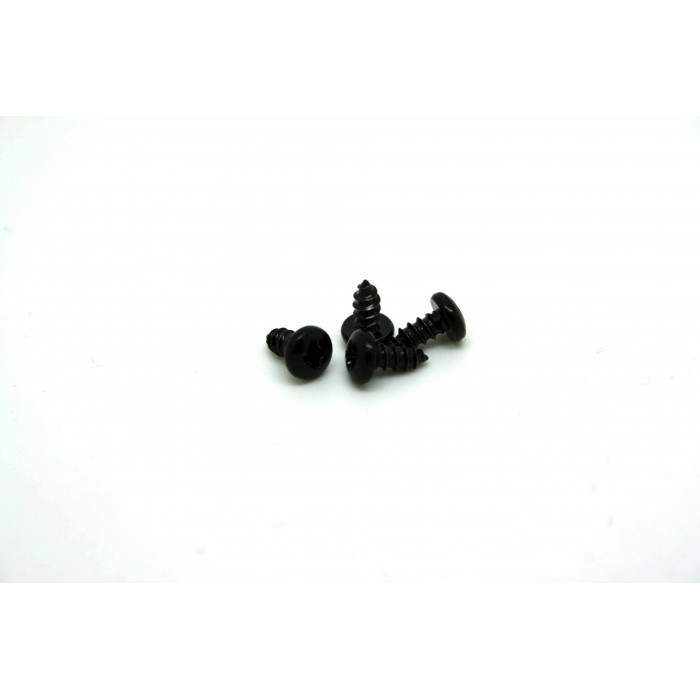 4x BLACK SCREWS FOR BOSS - ELECTRO HARMONIX AND IBANEZ