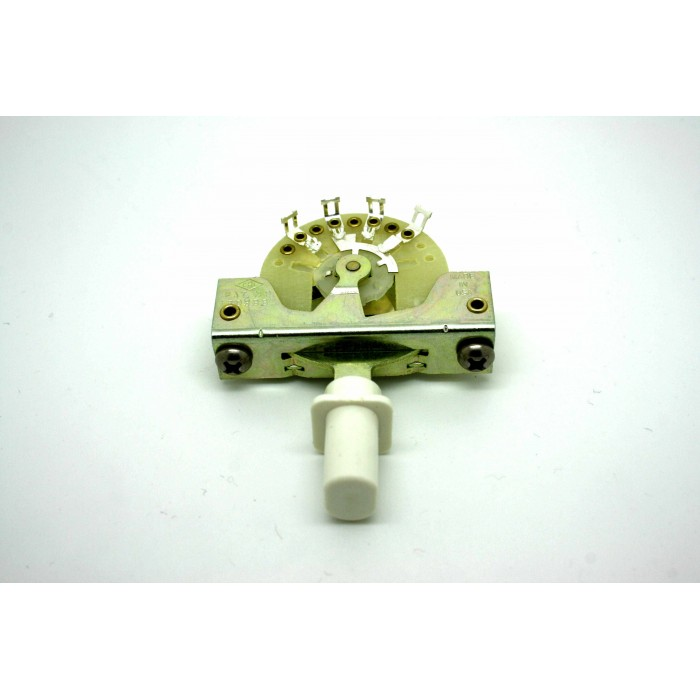 CRL 3-WAY PICKUP SELECTOR SWITCH WITH WHITE KNOB TOP HAT