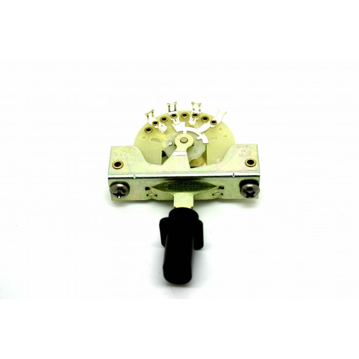 CRL 3-WAY PICKUP SELECTOR SWITCH WITH BLACK KNOB TOP HAT