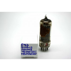MULLARD 5763 / QV03-12 6062 CV2129 VACUUM TUBE - MICROTRACER TEST!