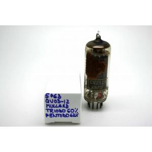 MULLARD 5763/QV03-12 6062 CV2129 VACUUM TUBE - MICROTRACER TEST!
