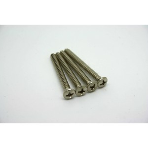 4x CHROME NICKEL NECK SCREWS FOR FENDER GUITARS AND SIMILARS