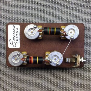 LES PAUL PREWIRED KIT (SHORT SHAFT OR LONG SHAFT POTENTIOMETERS)