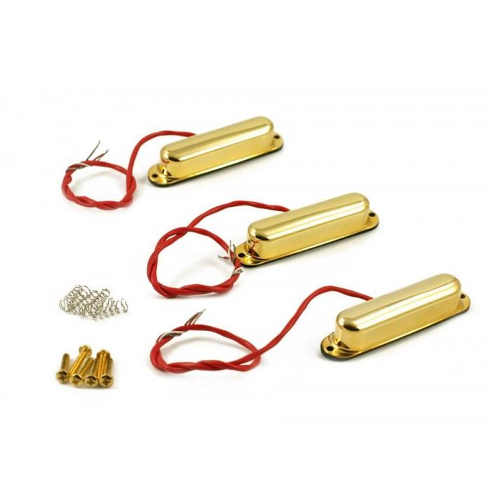 KENT ARMSTRONG JACK KNIFE - METAL STRAT PICKUP SET - GOLD