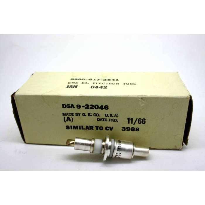 GENERAL ELECTRIC JAN 6442 CV3988 PLANAR TRIODE ELECTRON TUBE