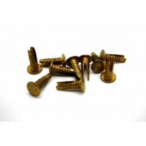 10x ORIGINAL MARSHALL AMP CABINET CORNER RIVETS GOLD