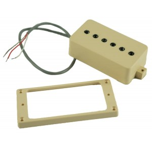 KENT ARMSTRONG CONVERTIBLE - P90 (HUMBUCKER RETROFIT) - CREAM PLASTIC COVER BLACK POLES