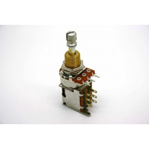 AUDIO / LOG 500K PUSH-PUSH POTENTIOMETER KURZWELLE 3/8 ZOLL - HERGESTELLT IN USA!