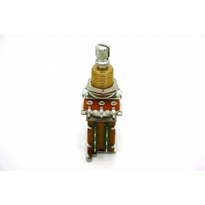 AUDIO / LOG 500K PUSH-PUSH POTENTIOMETER SHORT SHAFT 3/8 INCH - MADE IN USA!