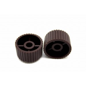2x HARMONY SILVERTONE GUITAR KNOBS BROWN CUPCAKE TONE & VOLUME - CTS OR EMERSON