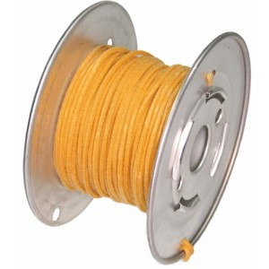 15 Mt YELLOW GUITAR ELECTRIC 22 AWG VINTAGE CLOTH COVERED WIRE - CABLE INTERNO GUITARRA