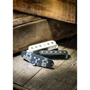 LOLLAR PICKUPS - SET OF 3 VINTAGE BLACKFACE PICKUPS FOR STRATS - STAGGERED POLE