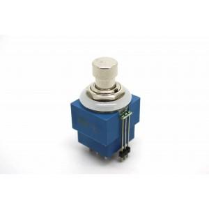 3PDT-FUSSSCHALTER MIT BI-COLOR-LED (ROT & BLAU) UND LÖTZUG - TRUE BYPASS
