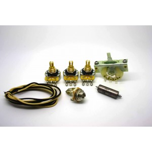 FENDER STRATOCASTER VINTAGE STYLE WIRING KIT WITH 3 WAY SELECTOR AND K40Y-9 0.047uF CAPACITOR
