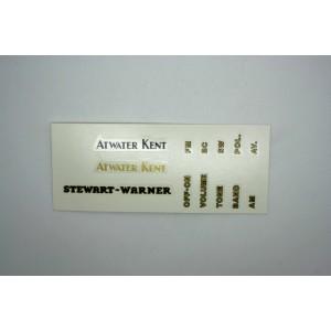 DECALS ATWATER KENT - STEWART WARNER