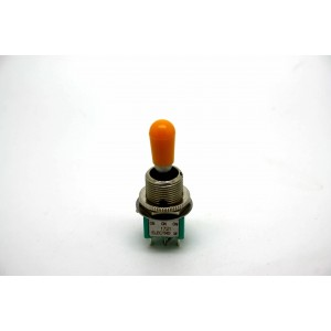 MINI TOGGLE SWITCH AMBER TIP SWITCHCRAFT GUITAR PICKUPS - GIBSON OR THIN GUITARS