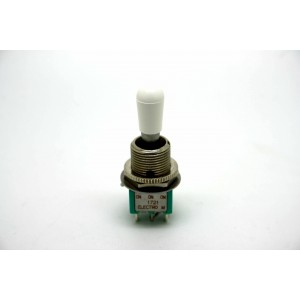 MINI TOGGLE SWITCH 3 WAY ON-ON-ON WITH WHITE TIP OF SWITCHCRAFT