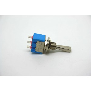 MINI TOGGLE SWITCH DPDT FLAT HANDLE ON-OFF-ON