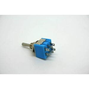 MINI TOGGLE SWITCH DPDT ON-OFF-ON - 6 PIN