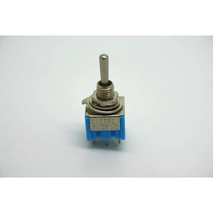 MINI TOGGLE SWITCH DPDT EIN- OFF-ON - 6 PIN