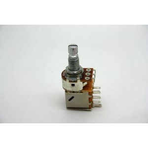 POTENTIOMETER A500K 500K LOGARITHMIC PUSH/PULL KNURLED SHORT SHAFT - METRIC