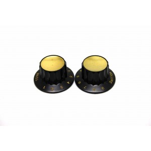 2X HARMONY - KAY - OLD PHILCO RADIO KNOBS BLACK TONE & VOLUME - FOR METRIC POT!