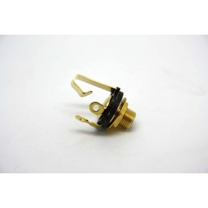 GOLD JACK MONO FOR ELECTRIC GUITAR OR BASS GUITAR