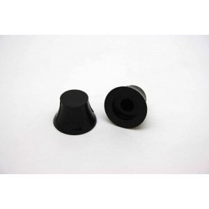 2x SMALL BLACK KNOBS FOR FLOATING PICKGUARDS OR D' ARMOND PICKUP - CTS OR BOURNS