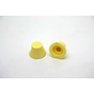 2x SMALL IVORY KNOBS FOR FLOATING PICKGUARDS OR D 'ARMOND PICKUP - CTS OR BOURNS