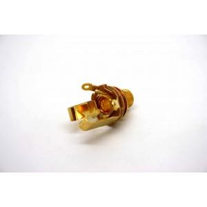 "ECHTES SCHALTERHANDWERK 6,35 mm 1/4 ""JACK TYP L12B STEREO - GOLD PLATE CONTA CTS !"