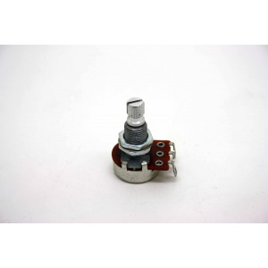 MINI POTENTIOMETER B50K 50K 16MM LONG SHAFT WITH CE NTE R DETENT FOR ACTIVE PICKUP