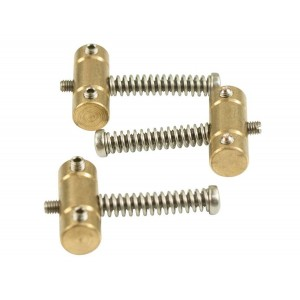 VIBRAMATE SLOTTED BRASS SADDLE SET WITH DUAL ACCESS SCREWS
