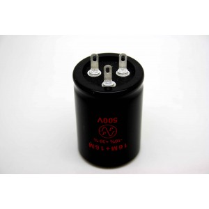 JJ 16UF/16UF 500V DUAL CAPACITOR FOR AMPLIFIER TUBE AMP