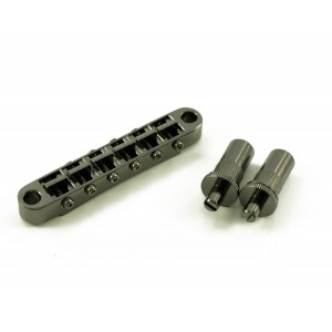 GOTOH WIDE TUNEOMATIC BRIDGE BLACK (LARGE STUDS)