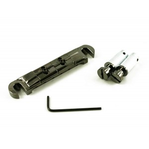 WILKINSON COMPENSATOR BRIDGE/TAILPIECE BY GOTOH BLACK CHROME