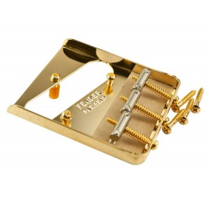 FENDER VINTAGE 3 SADDLE TELE BRIDGE GOLD