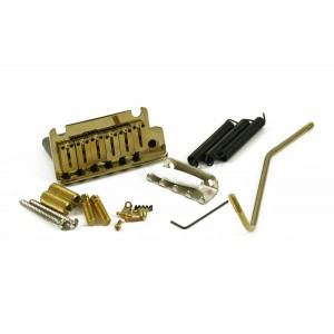 FENDER AMERICAN SERIES STRAT BRIDGE / TREMOLO ASSEMBLY IN GOLD