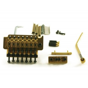 FLOYD ROSE 7 STRINGS TREMOLO GOLD W/LOCKNUT