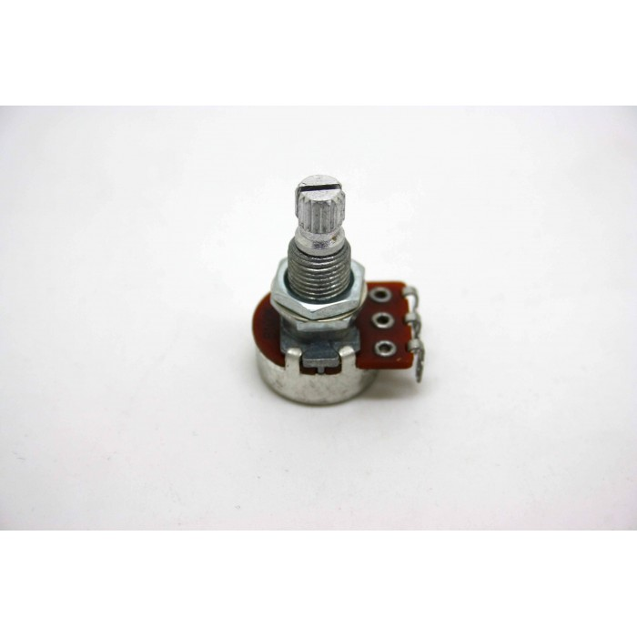 MINI POTENTIOMETER B100K 100K 16MM LONG SHAFT WITH CE NTE R DETENT ACTIVE PICKUP