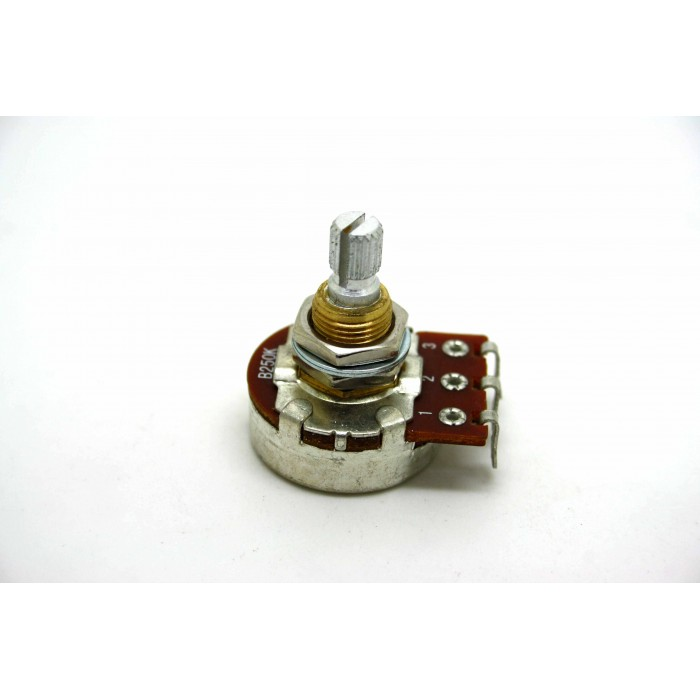 POTENTIOMETER BOURNS 250K B250K LINEAR 24mm KNURLED SHAFT FOR GUITAR OR BASS