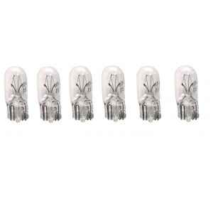 6x 259 BAD CAT AMPLIFIER LOGO ILLUMINATION BULB SET. 6V, .25 AMP, WEDGE BASE