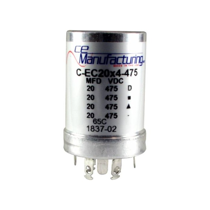 CE MANUFACTURING MFG 475V 20/20/20/20µF CAPACITOR