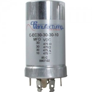 CE MANUFACTURING MFG 475V 30/30/30/10uf CAPACITOR