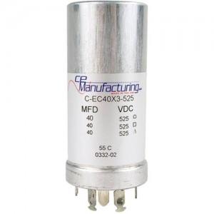 CE MANUFACTURING MFG 525V 40/40 / 40uF CAPACITOR