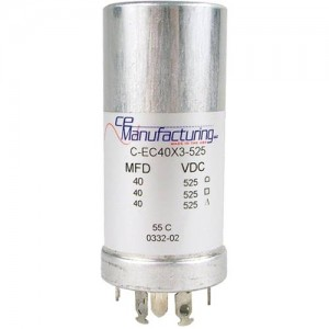 CE MANUFACTURING MFG 525V 40/40/40uF CAPACITOR