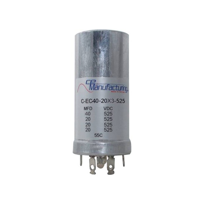 CE MANUFACTURING MFG 525V 40/20/20/20uF CAPACITOR
