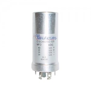 CE MANUFACTURING MFG 525V 40/40/20/20uF CAPACITOR