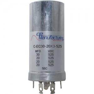 CE MANUFACTURING MFG 525V 30/20/20/20uF