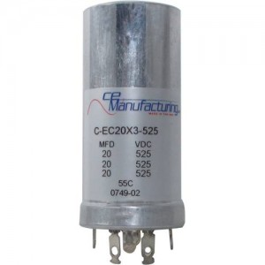 CE MANUFACTURING MFG 525V, 20/20/20µF