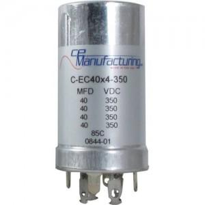CE MANUFACTURING MFG 350V, 40/40/40/40uF